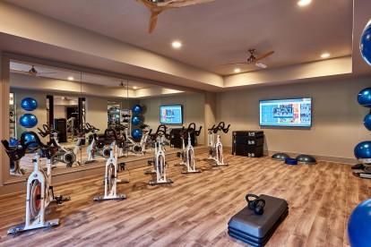 Yoga and spin studio