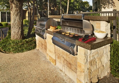 Barbeques and outdoor dining areas