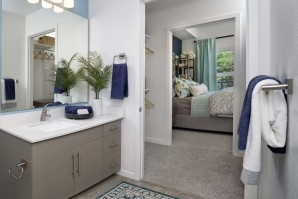 Mocha bathroom in the A2 floor plan.