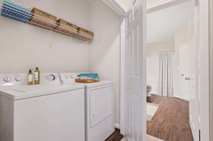Full size washer and dryer in every apartment home at Camden Fallsgrove