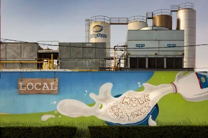 Milk district wall art
