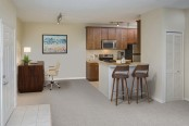 Open kitchen concept dining room or home office space