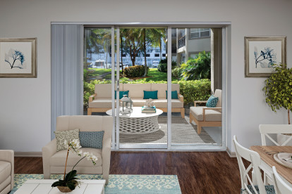 Enjoy sunrises and sunsets on your patio