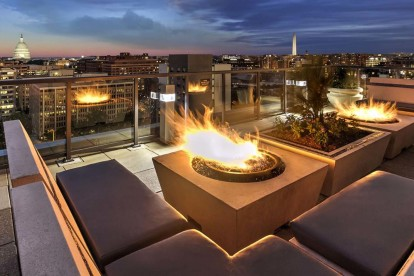 Rooftop fire