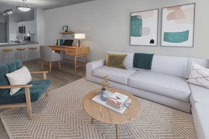 With spacious living rooms