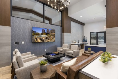 Resident club lounge with tv
