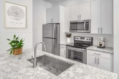 Modern style kitchen at Camden Crest in Raleigh, NC