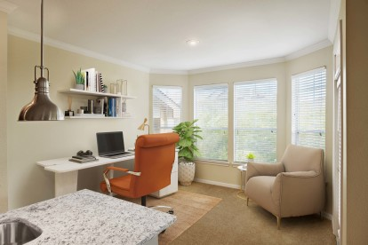 Extended home office space