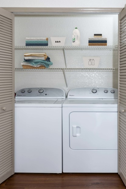 With full size washer dryer