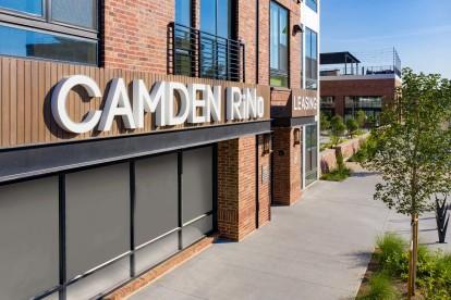 Exterior signage at Camden RiNo