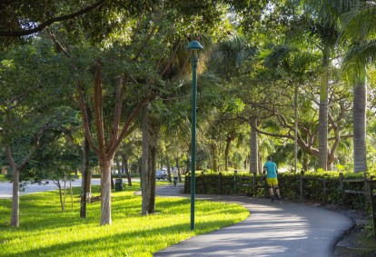 Running and walking trails nearby