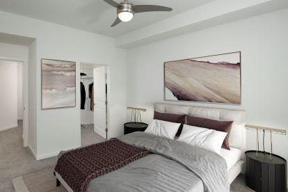 A5 Floor Plan Main Bedroom with Walk-In Closet.