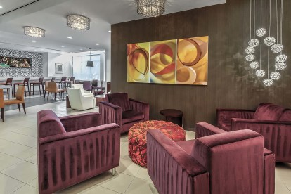 Resident lounge with flat screen tvs