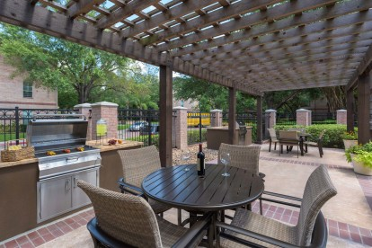 Outdoor grill and dining area