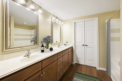 Bathroom with lots of counter room