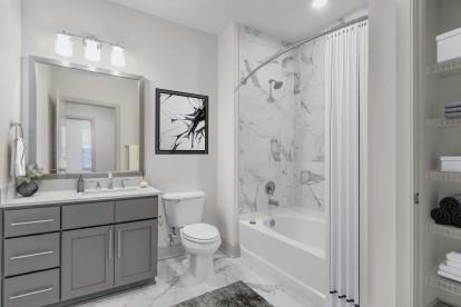 Bathroom single vanity grey design scope