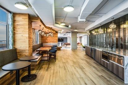 Resident lounge demo kitchen cafe seating