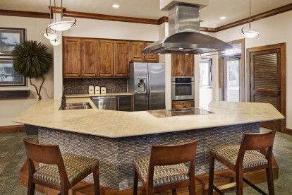 Resident lounge with entertaining kitchen
