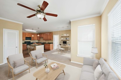 Open-concept floor plans with space to work from home