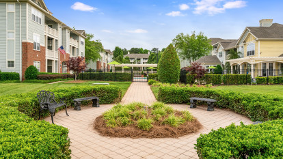 Courtyard at Camden Governors Village Apartments in Chapel Hill, NC