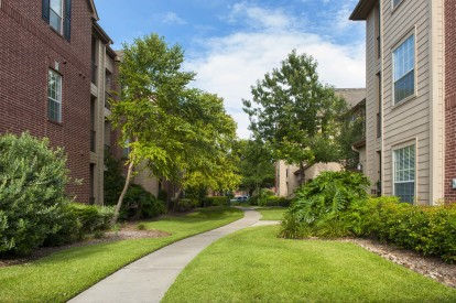 Beautiful landscaped courtyards