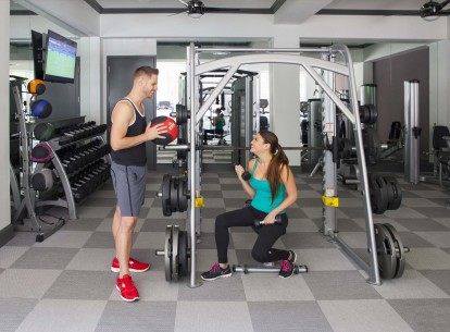 Midtown with two fitness centers with cardio equipment and free weights