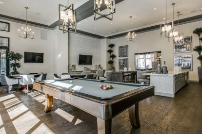 Resident lounge with billiards and televisions