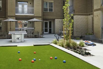Outdoor game courtyard