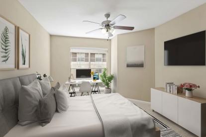 Bedroom home office