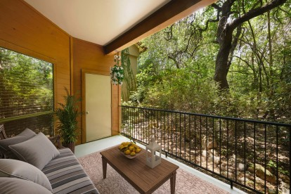 Private balcony with wooded view