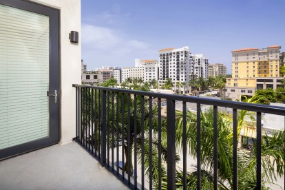 Enjoy great views off your balcony