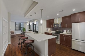 Cherry wood design scope kitchen island with seating stainless steel applicances