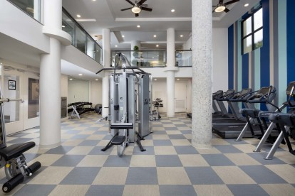 Fitness center with cardio strength and circuit training equipment