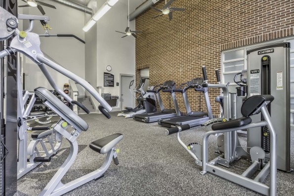 Fitness center with cardio and strenth equipment