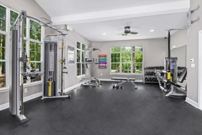 24-hour fitness center at Camden Reunion Park