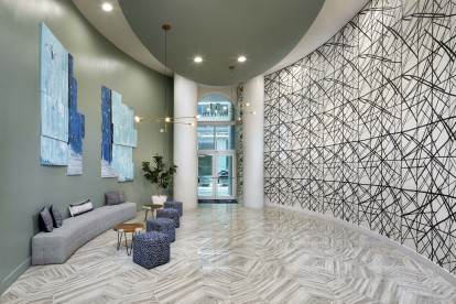 Lobby entrance as you enter your new home