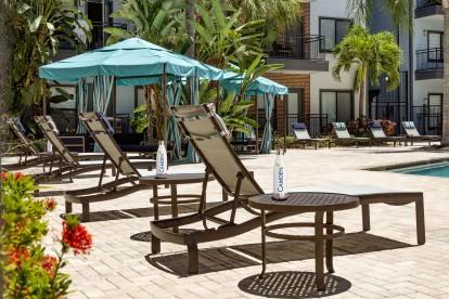 Cabanas at the pool
