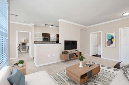 Camden Fallsgrove Living room, kitchen and office