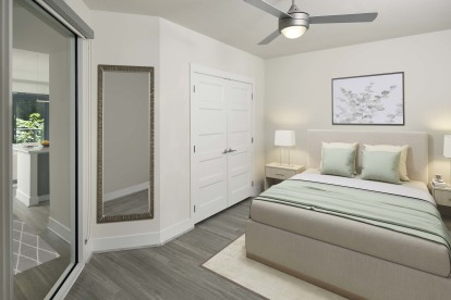Sleek contemporary style bedroom