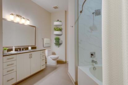 Camden Music Row Penthouse Bathroom with Soaking Tub