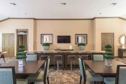 Entertainment lounge with ample seating