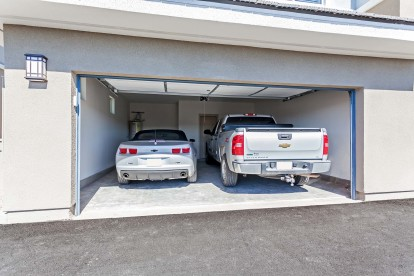 Attached two car parking garage