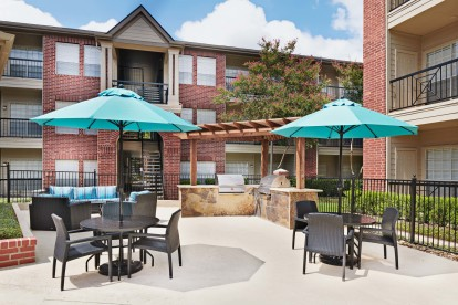 Outdoor grills and dining area