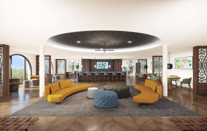 Community workspace with picturesque views