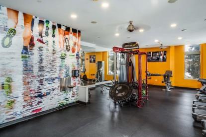 Fitness center run wall