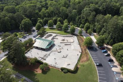 Skate park at Brook Run Park near the community