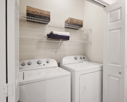 Full size washer and dryer in every apartment home