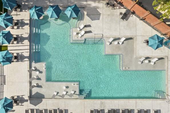 Bird's-eye view of pool