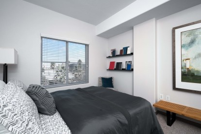 Modern style finished bedroom