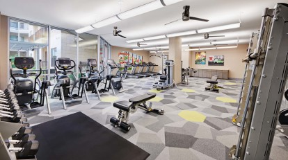 Fitness center with cardio machines and strength equipment
